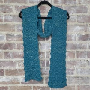 Teal Scarf with Gold Detail